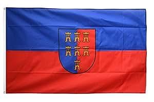 Flaggenfritze–Bandera de siete Ciudadanos Sajonia–90x 150cm