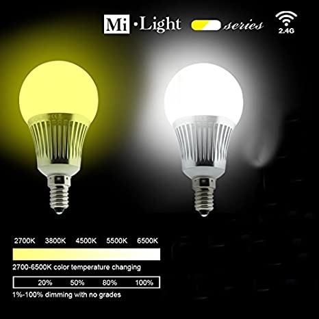 ER ChenTM 2,4 G 5 W E14 bombilla Led + brillo ajustable de la temperatura de Color, controlado por iOS/Android System Control de Wifi: Amazon.es: ...