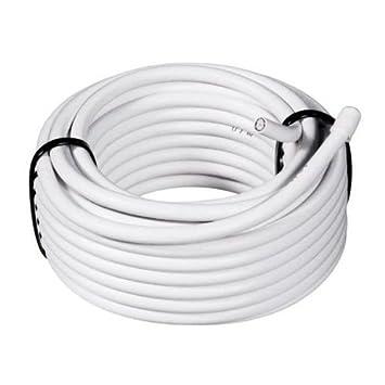 Takestop® 15 metros MT Cable alargador coaxial para TV Antena Digital Terrestre 75 Ohm Cableado