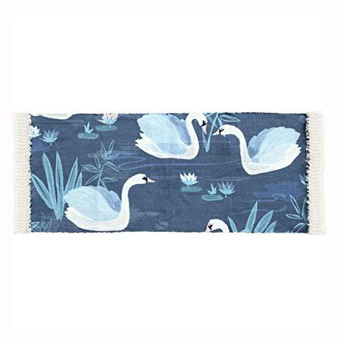 (SXY Creative Fashion Rug, Nordic Home Woven Bedroom Rectangular Cotton Rug)