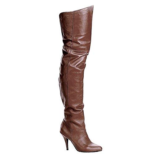 Pleaser Legend-8868 - Sexy Leder Overknee-Stiefel High Heels 36-48