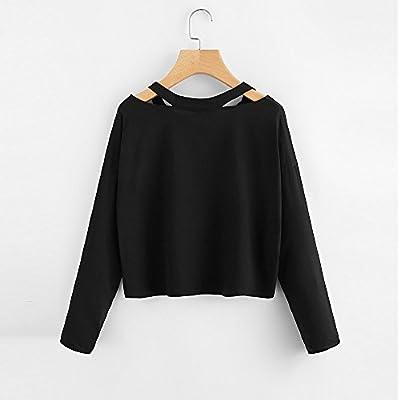 FACAIAFALO Women Hoodie Long/Short Sleeve Pullover Teen Girls Cute Crop Tops Sweatshirts Casual Jumper Blouse Shirts: Clothing