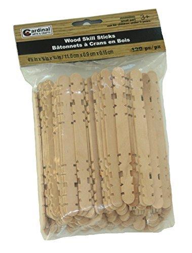 Cardinal Arts & Crafts Wood Skill Sticks (120 - Sticks Skill