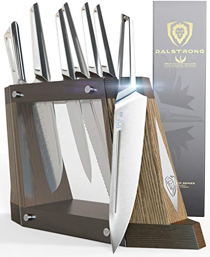 DALSTRONG Edles 8-teiliges Messerset mit Messerblock – Crusader Serie – aus Deutschem Thyssenkrupp High Carbon Edelstahl