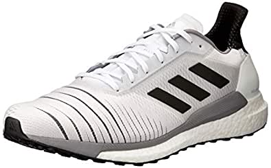 adidas Australia Men's Solar Glide Running Shoes, Footwear White/Core Black/Grey, 6.5 US