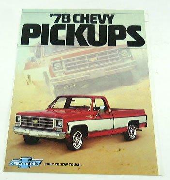1978 78 Chevrolet CHEVY PICKUP TRUCK BROCHURE C10 K20