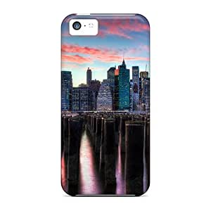 For Iphone 5c Tpu Phone Case Cover(skyscrapers)