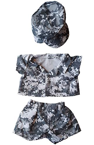 BEARegards Army Digital Outfit Teddy Bear Clothes Fits Most 14