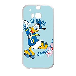 HTC One M8 Cell Phone Case White Donald Duck 3 Mgtpe