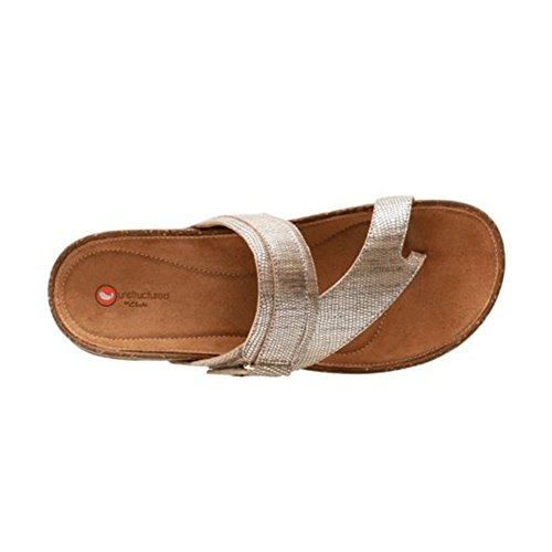 CLARKS Rosilla Durham Women's Sandal Light Gold Metallic Leather store online 2014 unisex cheap price buy cheap 2015 free shipping many kinds of UNKjg2ykX