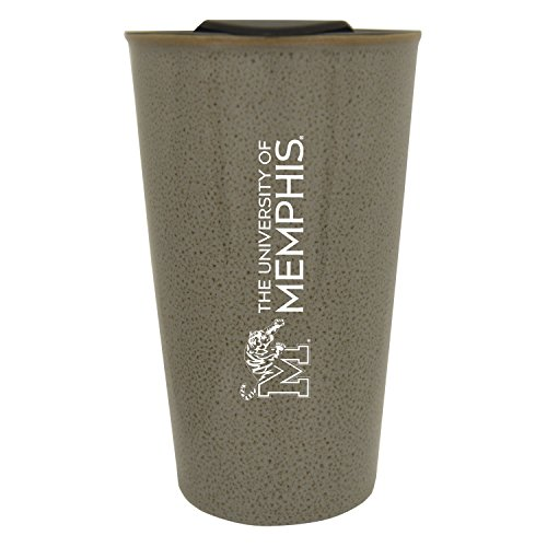 University of Memphis |16 oz. Ceramic Tumbler| Grey|Glazed Finish ()