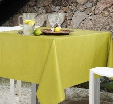 Mantel antimanchas rectangular Olimpia 50% algodón 50% poliéster, resinado y con Teflón de Dupont® - 150x200 - Liso verde: Amazon.es: Hogar
