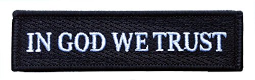 Velcro Black - In God We Trust - Tactical Morale Operator Pa