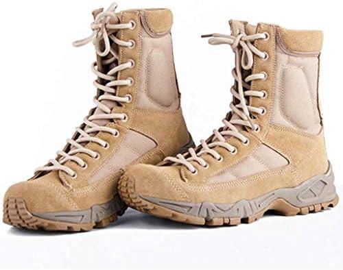 中東チューブ軍事戦術的なブーツのための屋外の戦術的なブーツのCortexラバーソールレースアップスタイル柔らかい滑り止め耐摩耗 (色 : ベージュ, サイズ : 26.5 CM)