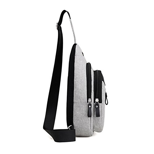 Chest Ultralight Daypack Light theft Bag Travel Shoulder Rucksack And Women Hiking Men Sling Backpack Pack Camping School Versatile Grey Crossbody anti For Over Unyu Weight Cycling Boys 5pYq58wz