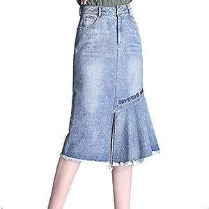 Señoras costura de verano falda asimétrica bolsa cadera de ...