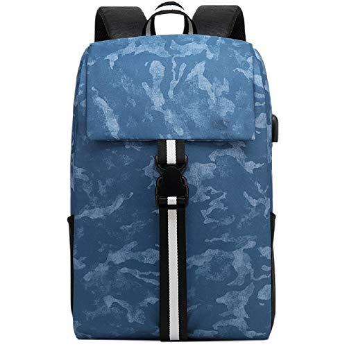 Outdoor Abbigliamento Grigio Travel Donna cm Wjp Backpack Contatto University Donna Uomo Blu Laptop Carica di chiaro Borsa di Usb E Per AOqTOwz
