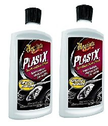 (Meguiars G12310 PlastX Clear Plastic Cleaner and Polish, fQRlHU 2 Pack(10 ounce))
