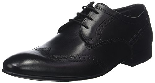 Base London Purcell Waxy Leather Mens Lace-Up Shoes Black OywcA
