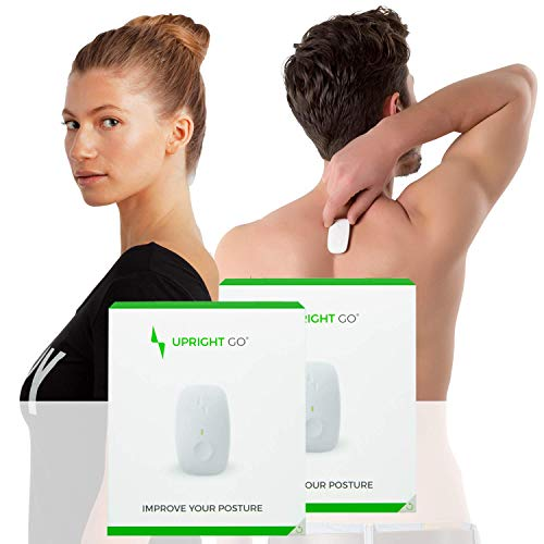 Upright GO Double Pack | Posture Trainer and Corrector for Back | Strapless, Discrete and Easy to Use | Complete with App and Training Plan | Back Health Benefits and Confidence Builder
