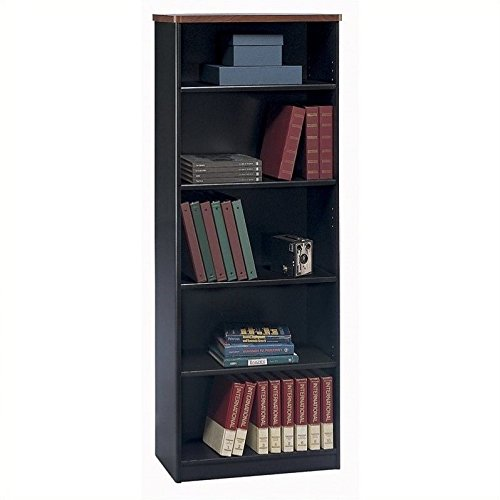 Bookcase Component - Bush Business Furniture Series A Collection 26W 5 Shelf Bookcase in Hansen Cherry