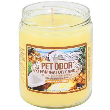Pet Odor Exterminator Candle Pineapple Coconut