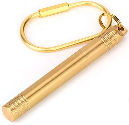 Antiroest pillendoosje gesp sleutelhanger keurt goed medicijn medicijncontainer messing gouden