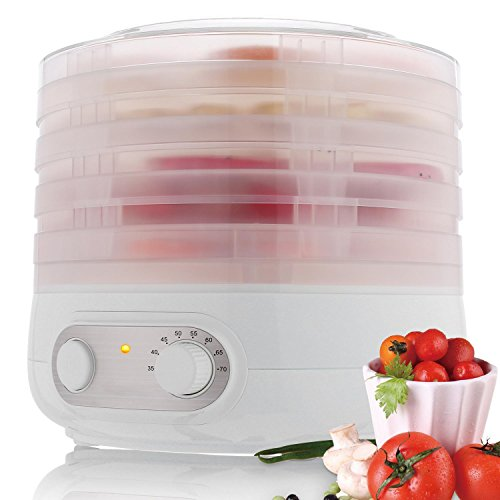 Meoket 500W Electric Fruit Food Dehydrator 6 Drying Racks Sn