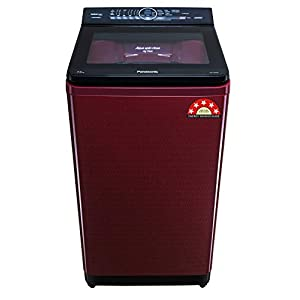 Panasonic 7.5 Kg 5 Star Built-In Heater Fully-Automatic Top Loading Washing Machine (NA-F75AH9RRB, Wine Red, Active Foam…