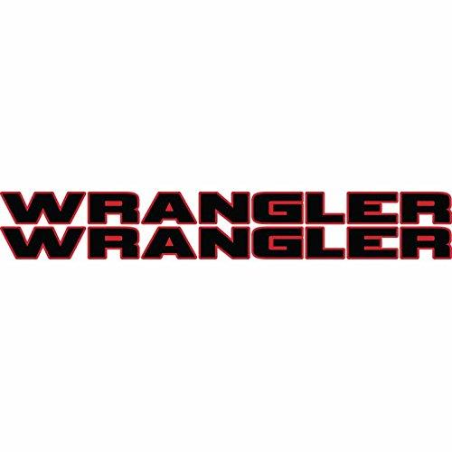Wrangler hood decal Pair 2 color fit all jeep wrangler model hoods (Black/Red)