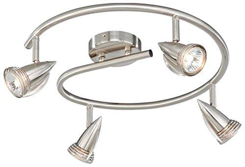 Vaxcel SP34118SN Garda 4 Light Line Voltage Spot Light, Satin Nickel Finish