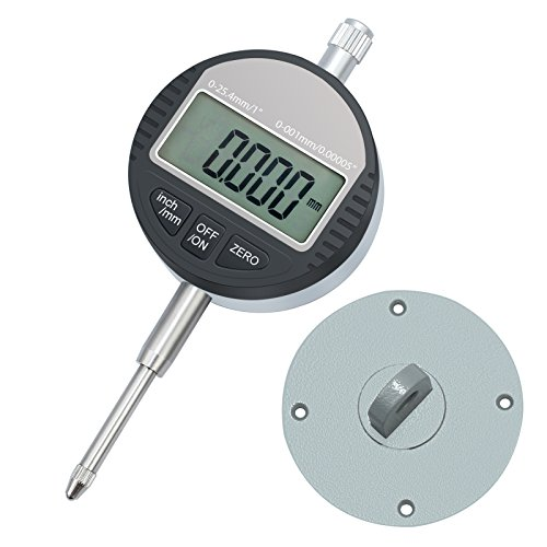 (Neoteck DTI Digital Dial Indicator 0.001/0.00005'' Digital Probe Indicator Dial Test Gauge Range 0-25.4mm/1'' Dial Test Indicators Electronic Indicator Gauge)