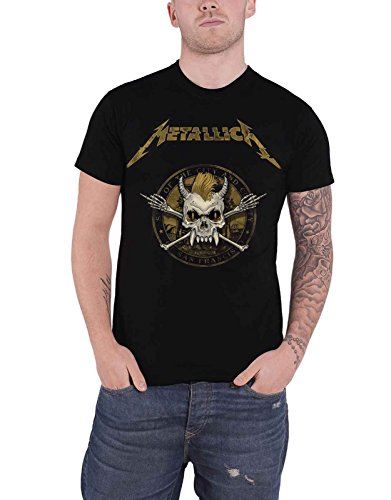 Metallica T Shirt Scary Guy Seal Band Logo Official Mens - Scary Metallica Guy