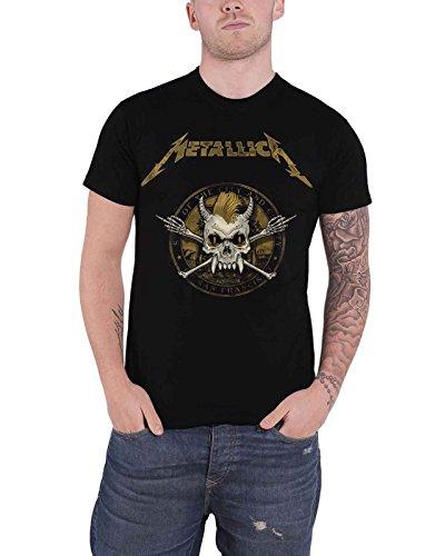 - Metallica T Shirt Scary Guy Seal Band Logo Official Mens Black