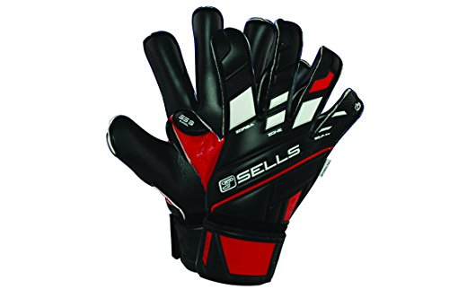 Sells Goalkeeper Products Total Contact Excel Supersoft 3 Goalkeeper Gloves (Pair), Black/Red/White, Size (Sells Keeper)