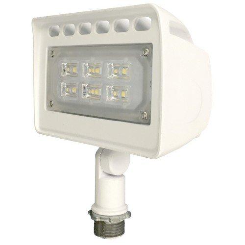 Morris 71337 LED ECO-Floodlight with 1/2' Adjustable Knuckle, 10W, 3000 K, 983 lm, White