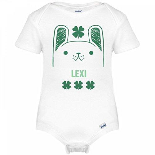 Lexi Cute Shamrock Irish Bunny: Infant Gerber Onesies (Lexi Bunny)