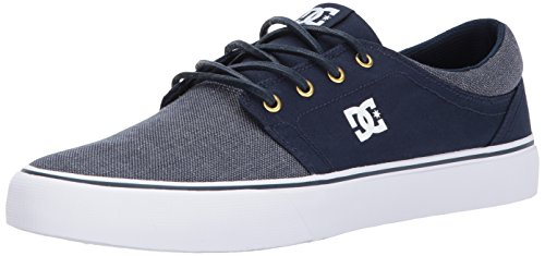 DC Men's Trase TX SE Skate Shoe, Navy/Gold, 7 D US