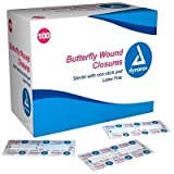 Dynarex Butterfly Wound Closure - 3615, 1 3/4'' X 3/8'' Medium) - MS20100 (2400)