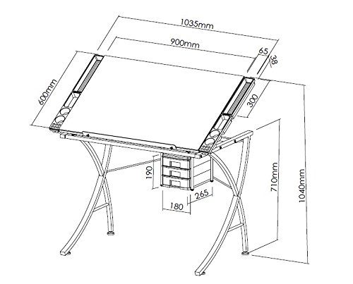 Amazon arties studio office drafting table art drawing amazon arties studio office drafting table art drawing adjustable craft station office products ccuart Image collections