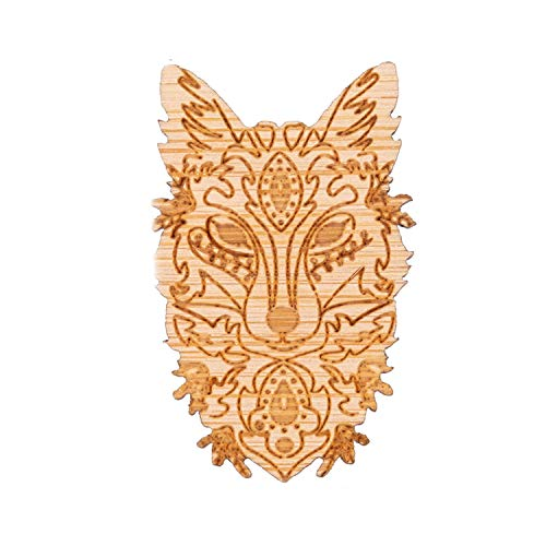 Japanese Fox Mask Brooch Pins Lapel Dem Jackets Retro Vintage Style Brooches Designer Brooch Cute Gifts forWomen,Dragon - Upholstery Style Designer Floral