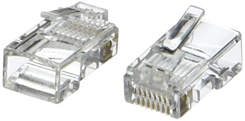 C2G/Cables to Go C2G/Cables to Go RJ45 Cat5 8 x 8 Modular Plug for Round Stranded Cable - 100pk (Contact Amazon Online)