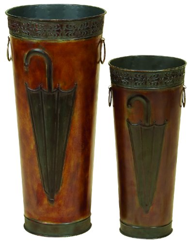 Deco 79 96571 Metal Umbrella Stand (Set of 2) 21