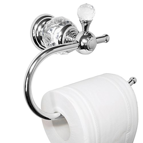 Kabter Unique Crystal Toilet Paper Holder Wall Mounted,Brass