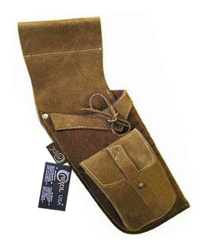 (Carol Traditional Side/Hip/Belt/Waist Suede Leather Arrow Quiver AQ119 (R/H) Brown )