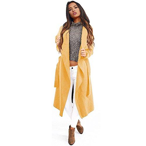RUIYIGE - Abrigo - para mujer amarillo