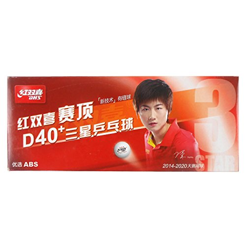 - DHS 10x D40 and 3-Star White Table Tennis Balls