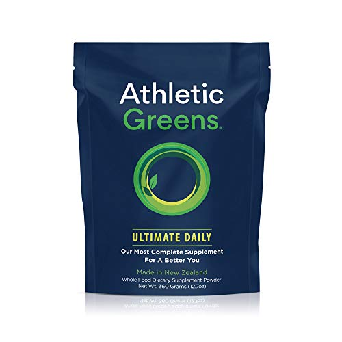 Alkalizing Powder (Athletic Greens Ultimate Daily All In 1 Greens Supplement Complete Greens Powder Drink Daily Probiotic Multivitamin Antioxidant Vegan Non GMO GLUTENFREE 30 Servings 360 grams)