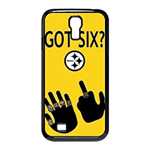 CTSLR NFL Pittsburgh Steelers GOT SIX WE DO Hard Case Cover Skin for Samsung Galaxy S4 I9500-1 Pack- 4