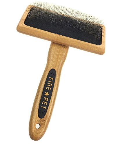 Connectyle Pet Grooming Deshedding Slicker Pin Brush with Bamboo Wood Handle for Dogs Cats Large (Dog Brushes For Curly Hair compare prices)